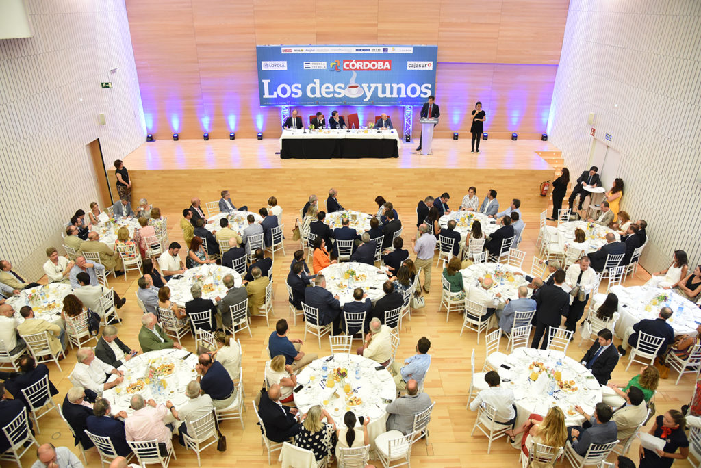 Diario Córdoba celebra por primera vez una edición de sus desayunos informativos en el Palacio de Congresos