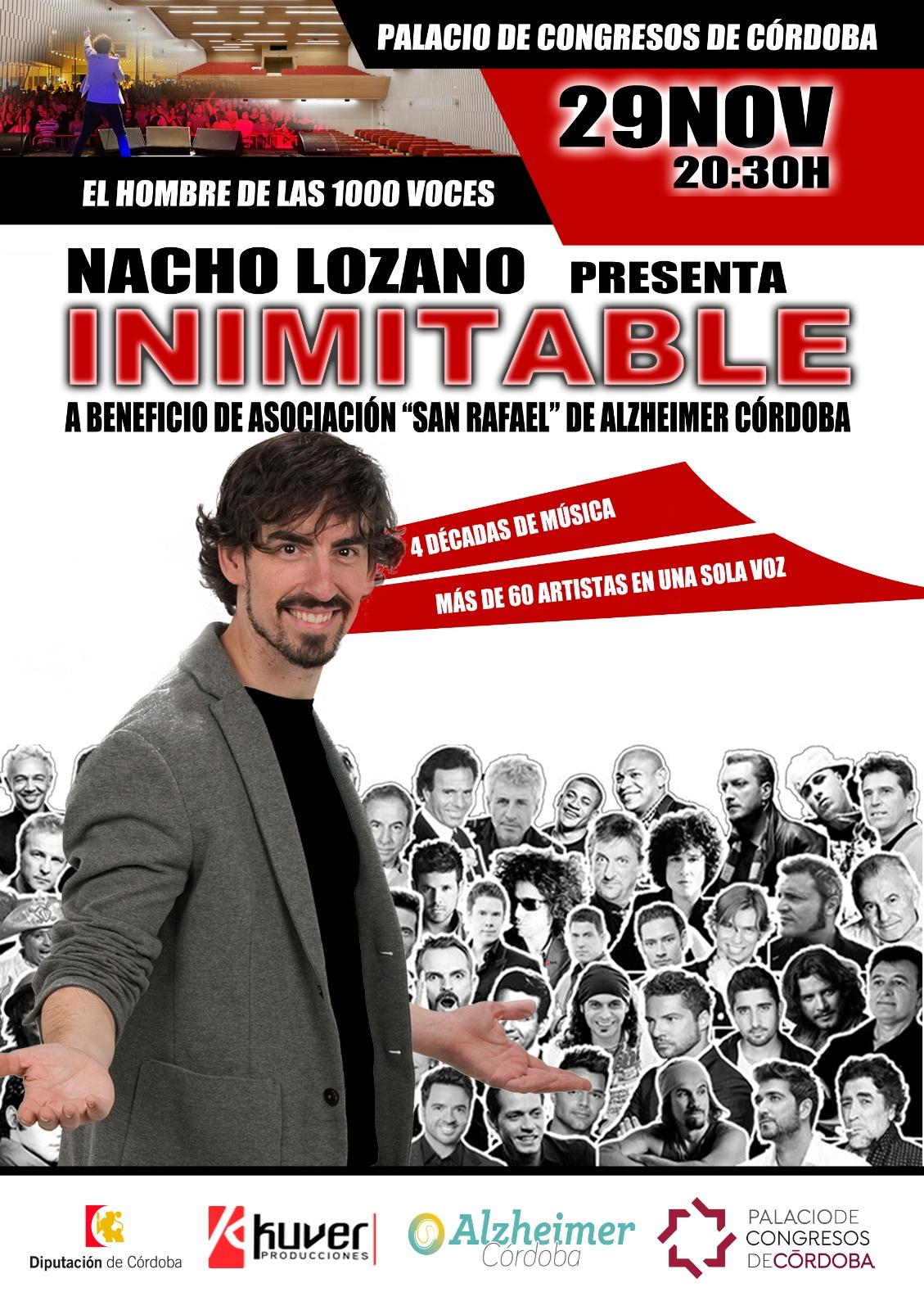 La Asociación San Rafael organiza el show 'Inimitable', de Nacho Lozano