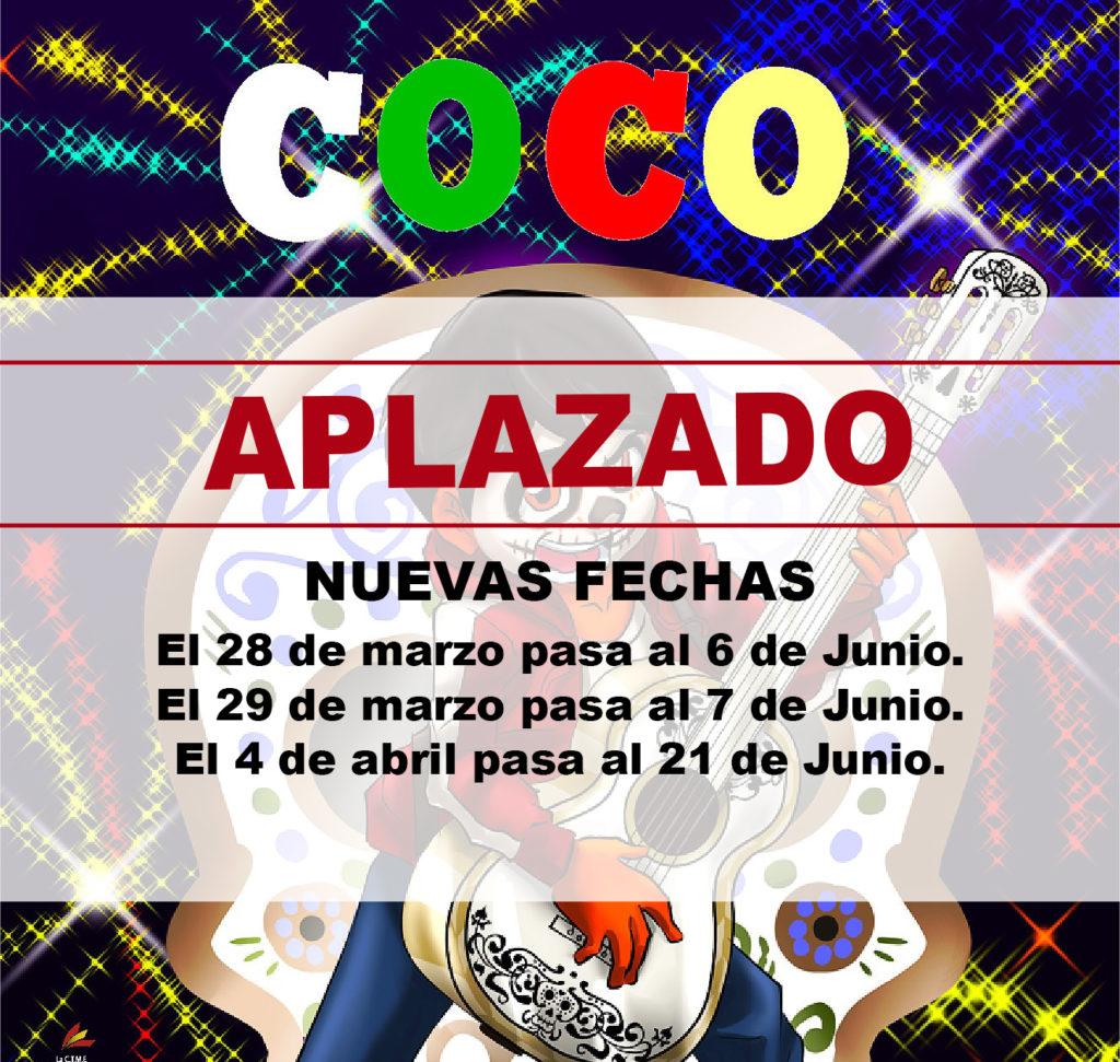 APLAZADO EL ESPECTÁCULO 'COCO, EL MUSICAL'