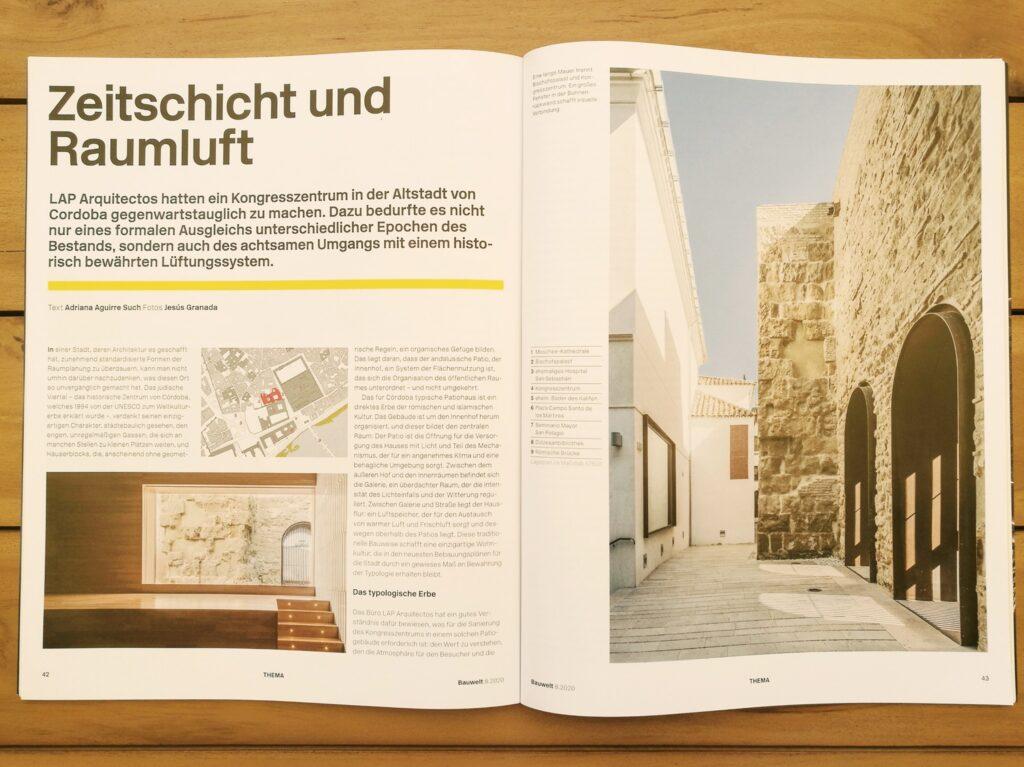 Revistas internacionales de arquitectura y diseño recogen el proyecto de la primera fase del Palacio de Congresos de Córdoba