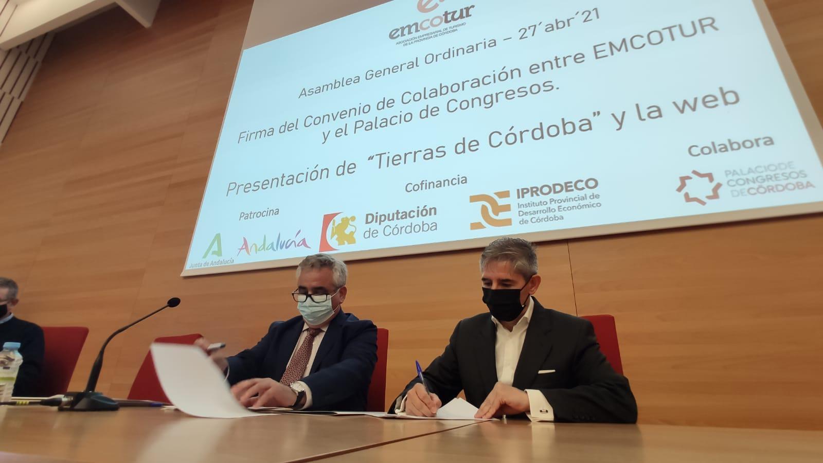 EMCOTUR y el Palacio de Congresos de Córdoba se  unen para potenciar la oferta turística de la provincia  en la capital